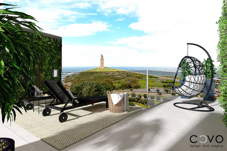 ático con vistas a la torre de hércules